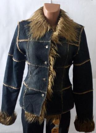 Теплая джинсовая куртка на меху!