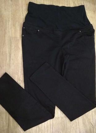 Черные джинсы для беременных в хорошем состоянии,евроразмер 14/42, наш 46-48