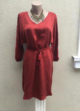 Красивое платье реглан,,туника,рубаха под пояс,помпоны,этно,бохо стиль,