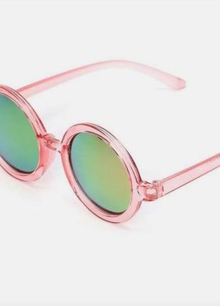 Уценка! солнцезащитные женские круглые зеркальные очки линзы хамелеоны тишейды цветные