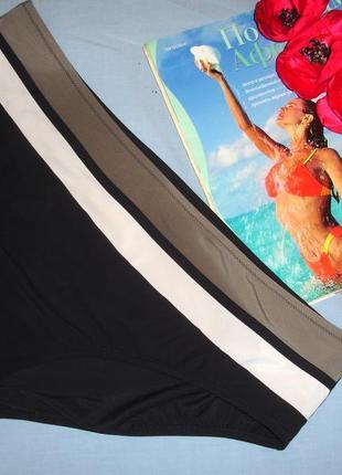 Низ от купальника раздельного трусики женские плавки размер 50-52 / 16 черные хаки