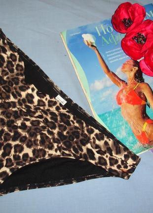 Низ от купальника раздельного трусики женские плавки размер 44 / 10 бежевый черный