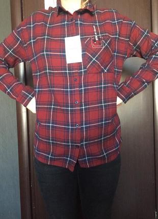 Cropp бомбезная женская рубашка в клетку