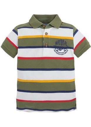 Новая футболка поло для мальчика, mayoral, 3163