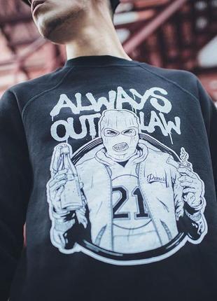 Свитшот always outlaw
