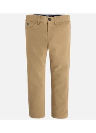 Новые коричневые брюки для мальчика, mayoral, 4502