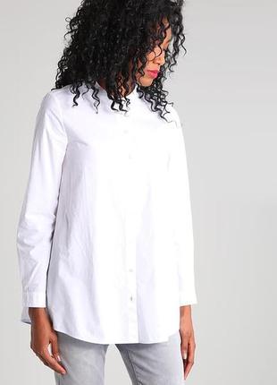 Невероятная белая рубашка фирменная marc o polo оригинал воротник стойка