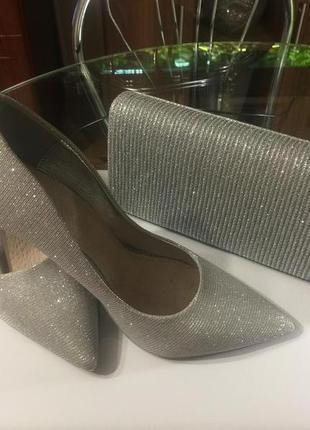 Нарядные туфельки , серебро