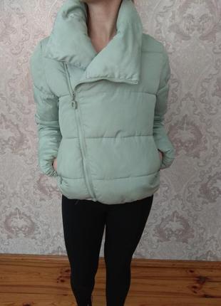 Весенняя осенняя курточка | куртка с большим воротником тёплая