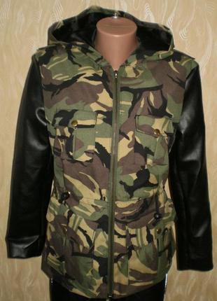 Куртка, ветровка камуфляжная  m, 44-46 наш смотрим замеры.