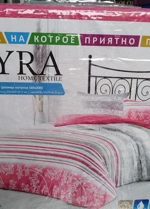 Нежный комплект махрового постельного белья3