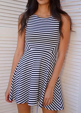 Идеальное и очень стильное платье в полоску