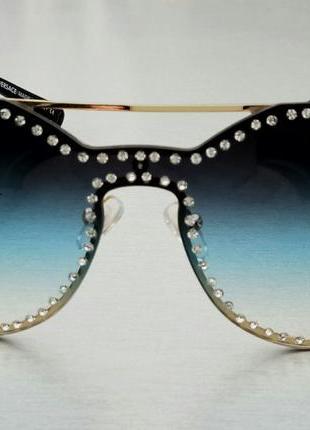 Очки женские солнцезащитные в камнях2 фото