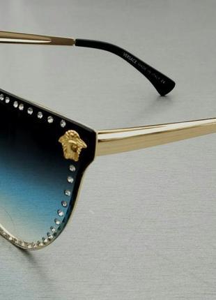Очки женские солнцезащитные в камнях3 фото