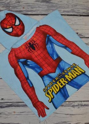 Фирменное детское полотенце пончо спайдермен человек паук spider man