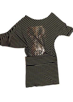 🚫закрытие магазина полная распродажа туника трикотажное платье в полоску летучая мышь