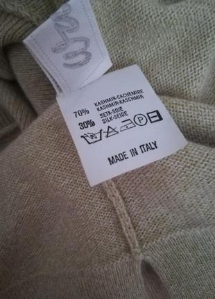 Длинный итальянский кашемировый свитер с высокой горловиной,разрезами по бокам,р.xxl4 фото