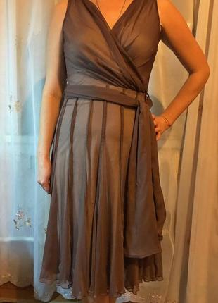 Красивое платье миди, красива сукня на підкладці