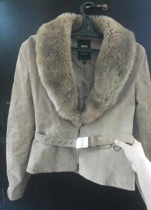 Осенняя курточка, натуральный замш