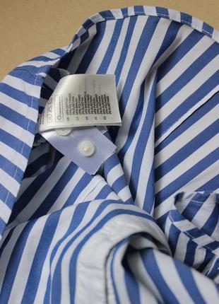 Хлопковая рубашка в модную полоску с/м.4 фото