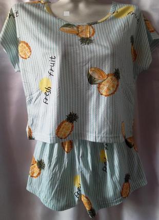 Женская  пижамка с ананасами