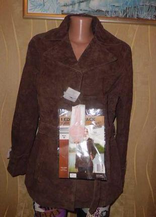Шикарная куртка из натуральной кожи. tchibo. 48-50