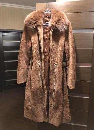 Меховое пальто на утеплителе