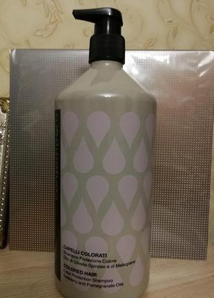 Безсульфатный шампунь для сохранения цвета с маслом облепихи и граната италия