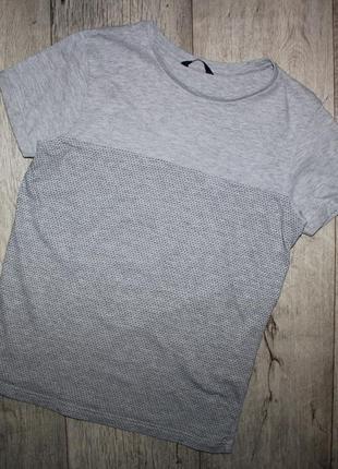 Стильная футболка серая george 11-12 лет, рост 146-152 см.