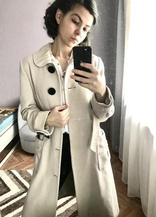 Осенне весенне легкое шерстяное пальто стильное тёплое качественное