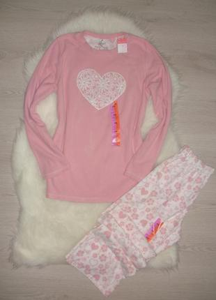 Нежная флисовая пижама primark xs/s 6-8