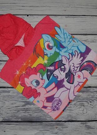 Фирменное детское полотенце пончо девочке махровое my little pony литл пони
