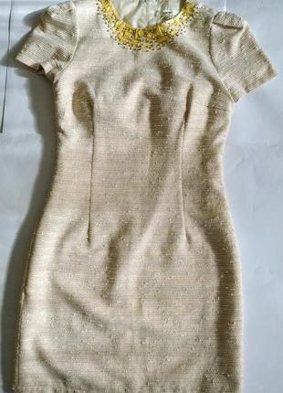 Платье футляр со стеклярусом
