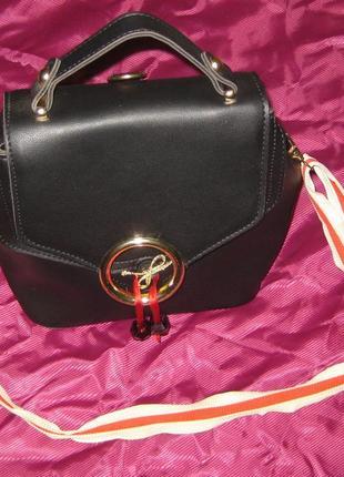 Рюкзак - сумка + супер-ремень яркий и крепкий, эффектно смотрится, pu - кожа
