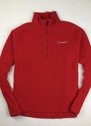 Яркая красная флисовая кофта berghaus большой размер жіночий светр під горло