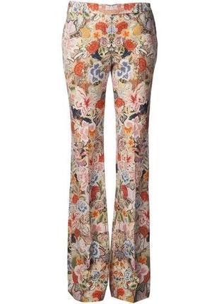 Брюки цветочный принт узор классические италия широкие alexander mcqueen штаны