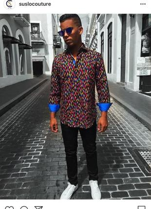 Suslo couture,фирменная мужская  рубашка,люкс