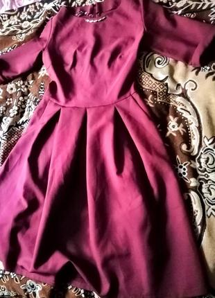 Шикарное бордовое платье шок-цена! !!