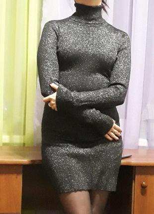 Круте плаття з срібною ниткою