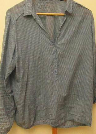 Стильная воздушная рубаха из тончайшей вискозы немецкого бренда «opus»