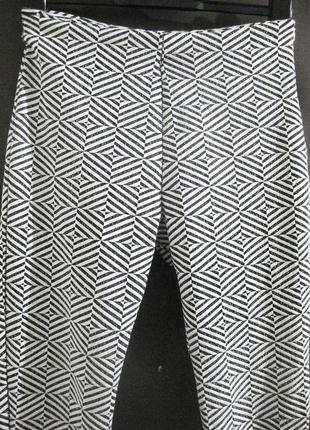 Брюки штаны glubl англия лосины орнамент рисунок белые серый фактурные