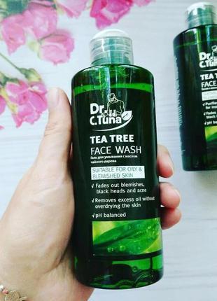 Средство для умывания с маслом чайного дерева dr. tuna
