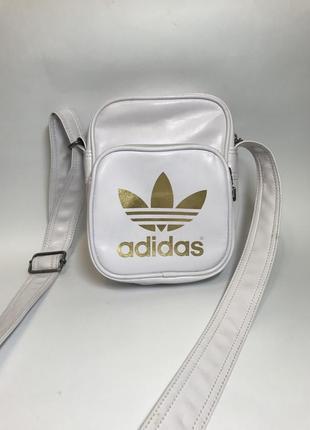 Белая мужская сумка adidas