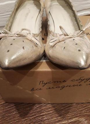 Летние туфли лодочки из натуральной кожи р.38, стелька 25см