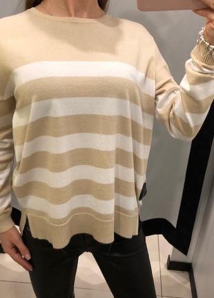 Легкий свитер в полоску джемпер mohito есть размеры