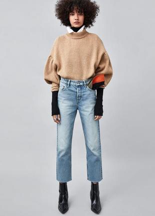 Последняя пара!!!крутые джинсы authentic прямого кроя с высокой посадкой 38 размер