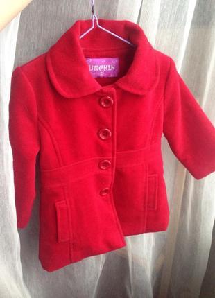 Пальто пальтишко на девочку 12-18 месяцев