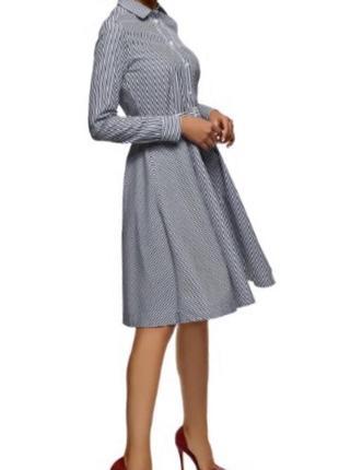 Платье в полоску новое oodji оригинал