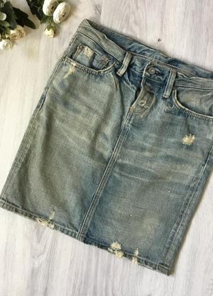 Фирменная джинсовая юбка edvin, размер s