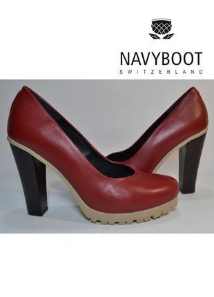 Р.41 navyboot швейцария оригинал натуральная кожа! эффектные модные комфортные туфли